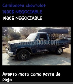 Chevrolet C 10 Big 10 Pick-Up L6 4.9 12V usado (1983) color Azul precio u$s1.400
