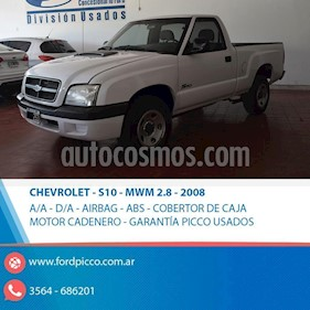 Chevrolet S 10 2.8 TD 4x2 CD usado (2008) color Blanco