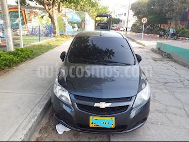Foto venta Carro usado Chevrolet Sail LS Ac (2015) color Gris Galapagos precio $23.500.000
