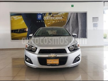 Chevrolet Sonic 4P LTZ TA A/AC. VE QC ABS BA F. NIEBLA RA-16 usado (2014) color Plata precio $123,116