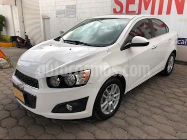 Chevrolet Sonic 4P LTZ TA A/AC. VE QC ABS BA F. NIEBLA RA-16 usado (2015) color Blanco precio $155,000