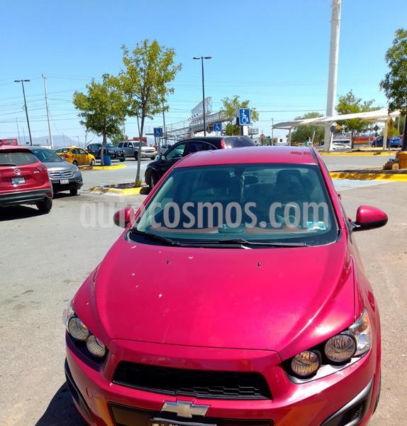 Chevrolet Sonic LT usado (2015) color Rojo precio $110,000