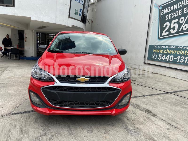 Chevrolet Spark LT usado (2020) color Rojo Granada precio $195,000