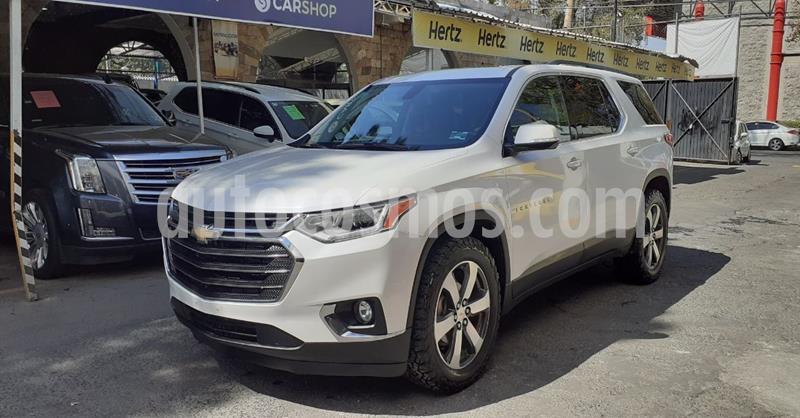 Chevrolet Traverse LT Piel usado (2019) color Blanco precio $499,900