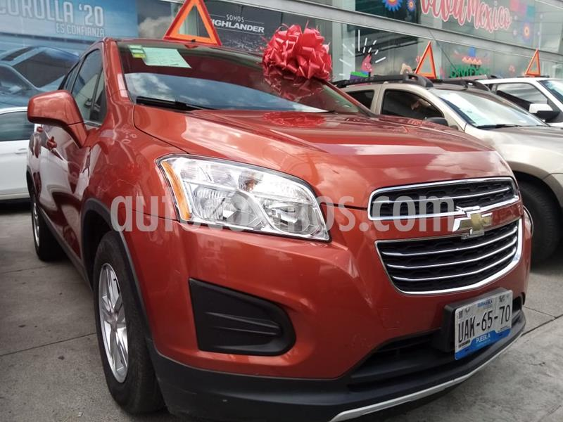 Chevrolet Trax LT usado (2016) color Naranja Metalico precio $309,000
