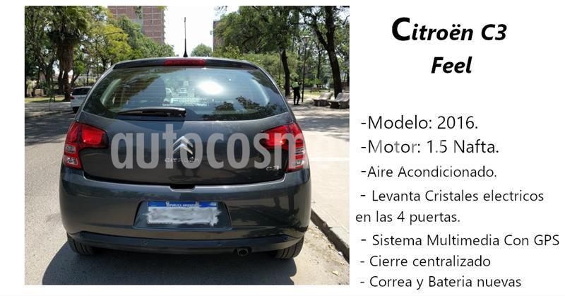 Citroen C3 Feel usado (2016) color Gris Grafito precio $650.000