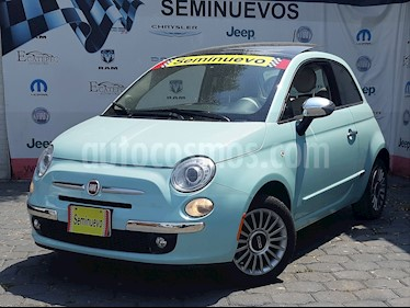 Foto venta Auto usado Fiat 500 Lounge Aut (2017) color Azul precio $249,000