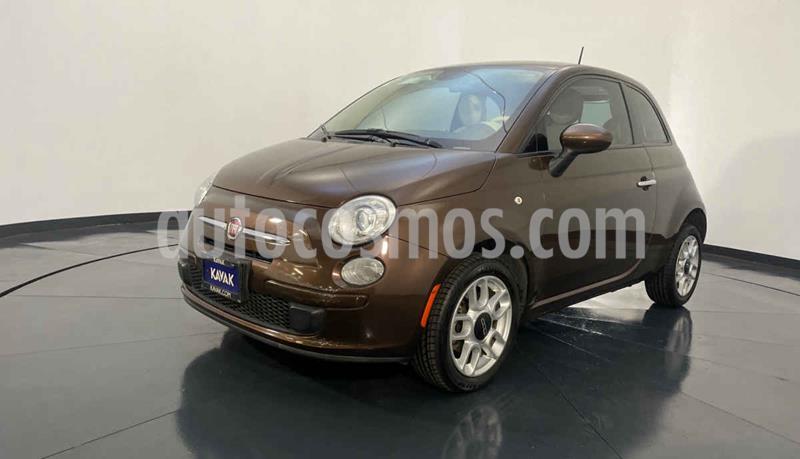 Fiat 500 Pop  usado (2014) color Cafe precio $144,999