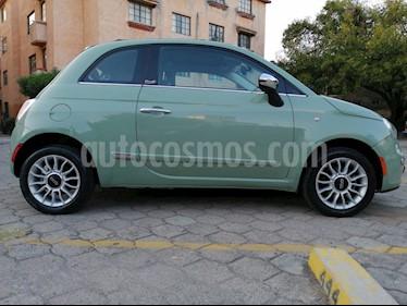 Fiat 500 Lounge Convertible usado (2013) color Verde Oliva precio $129,500