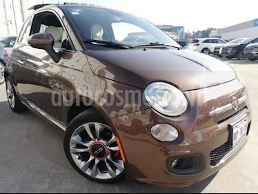 Fiat 500 Sport Aut usado (2015) color Cafe precio $170,000