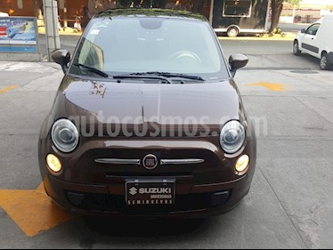 Fiat 500 Trendy usado (2015) color Mocha precio $142,000