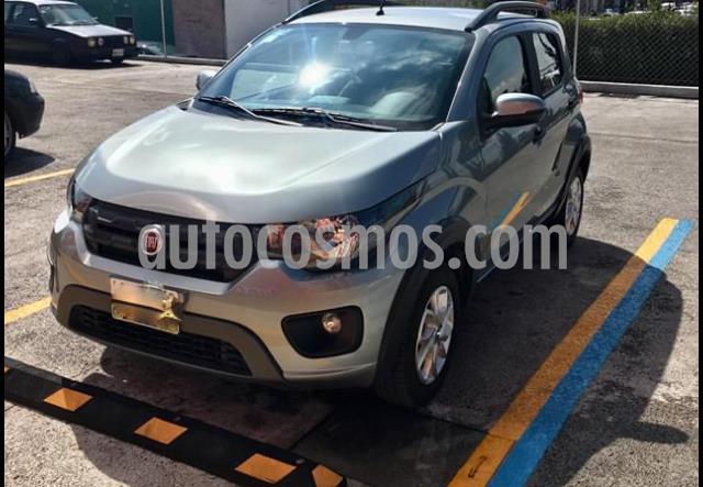 Fiat Mobi Way usado (2018) color Gris Tellurium precio $149,999