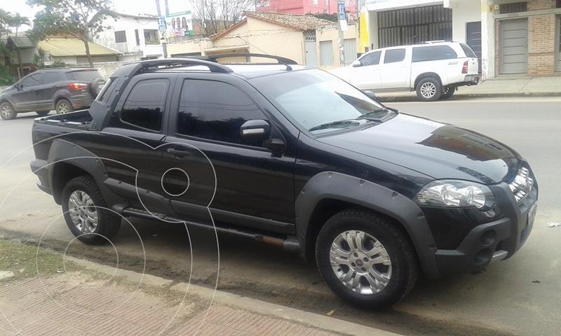 FIAT Strada Adventure 1.6 Cabina Doble Seguridad usado (2011) color Negro Vesubio precio $850.000