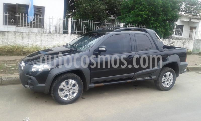 FIAT Strada Adventure 1.6 Cabina Doble Seguridad usado (2011) color Negro Vesubio precio $650.000