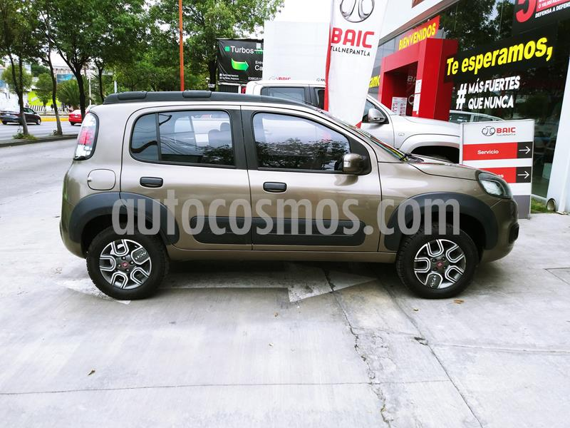 Fiat Uno Way usado (2016) color Gris Tellurium precio $124,000