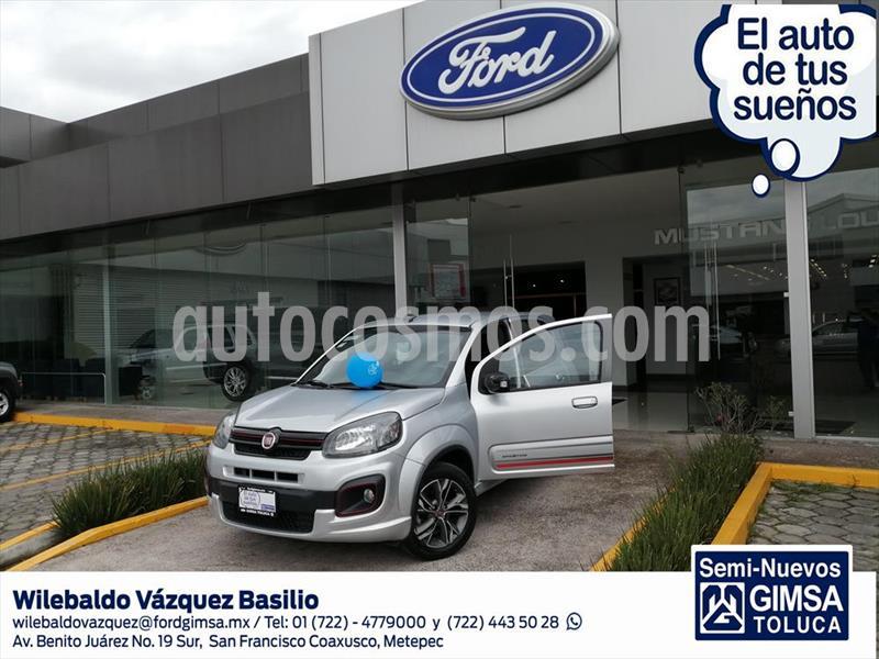 Fiat Uno Sporting usado (2017) color Plata precio $157,000