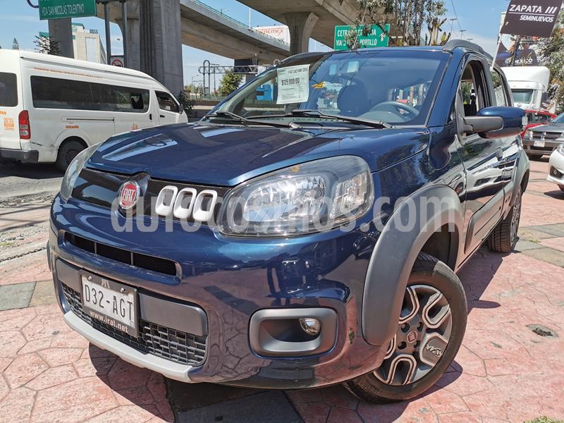 Fiat Uno Way usado (2016) color Azul Neptuno precio $120,000