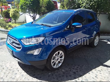 Foto venta Auto usado Ford Ecosport Titanium Aut (2018) color Azul Relampago precio $325,000