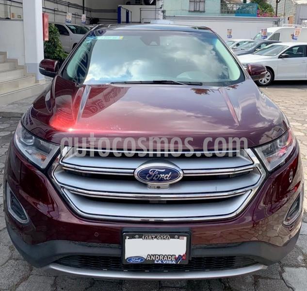 Ford Edge Titanium usado (2017) color Rojo precio $410,000