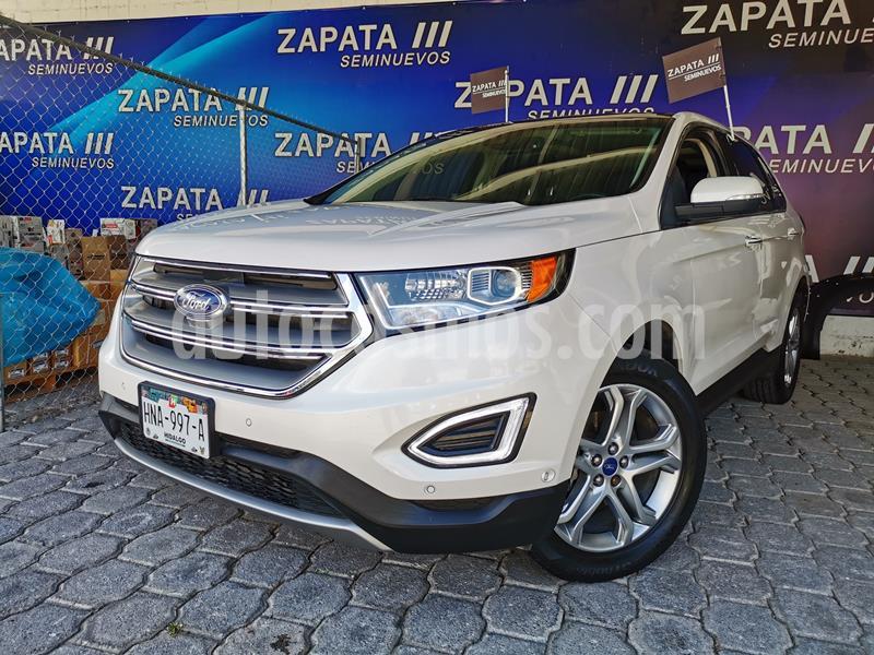 Ford Edge Titanium usado (2017) color Blanco Platinado precio $415,000