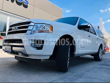 Ford Expedition Platinum Max 4x4 usado (2017) color Blanco Platinado precio $605,000