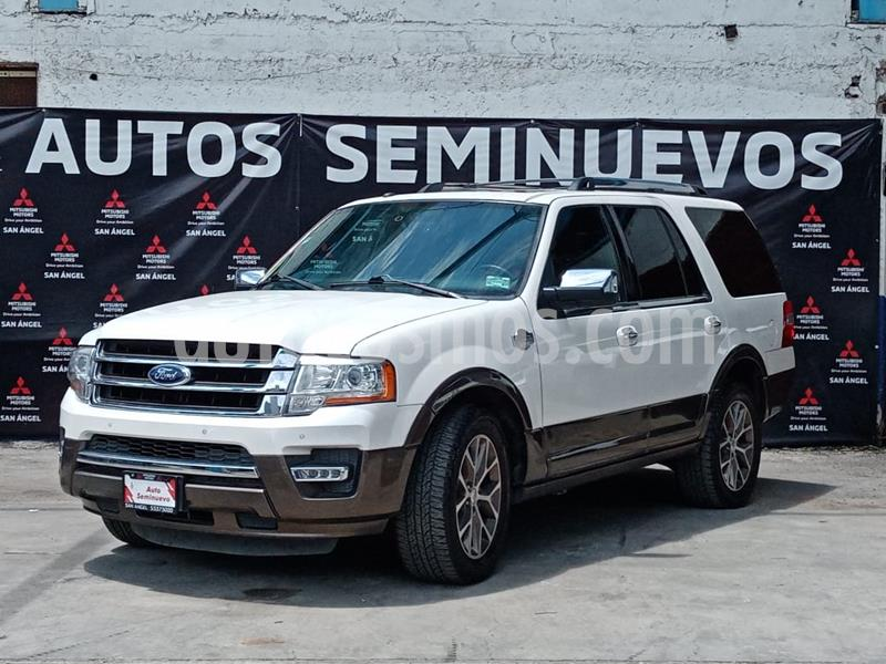 Ford Expedition King Ranch 4x2 usado (2016) color Blanco Platinado precio $460,000