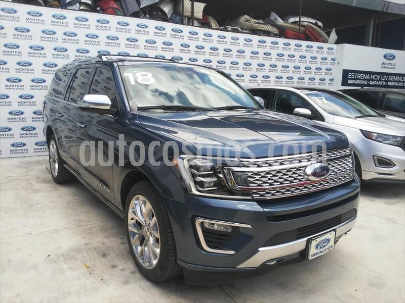 Ford Expedition PALTINUM MAX 4X4 usado (2018) color Azul Marino precio $860,000