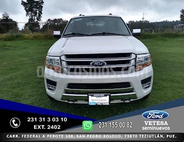 Foto venta Auto usado Ford Expedition Platinum Max 4x4 (2017) color Blanco Platinado precio $650,000