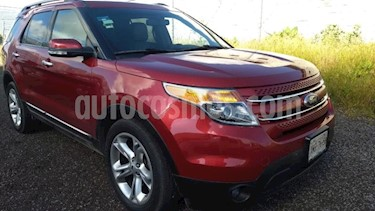 Ford Explorer 5p Limited V6/3.5 Aut usado (2015) color Rojo precio $370,000