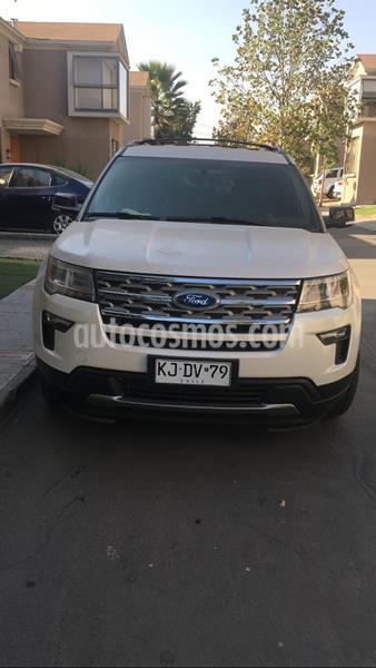 Ford Explorer 3.5L XLT 4x2  usado (2018) color Blanco precio $18.290.000
