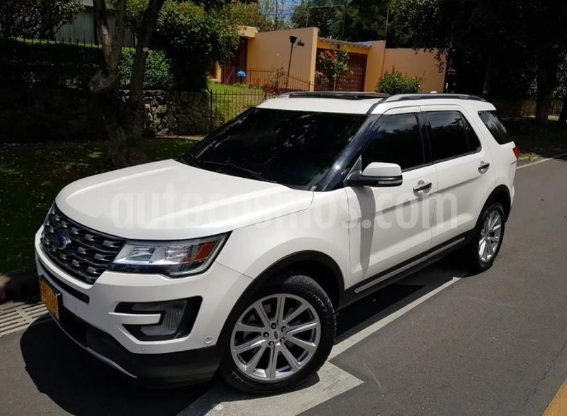 Ford Explorer Limited 4x4  usado (2017) color Blanco precio $99.900.000