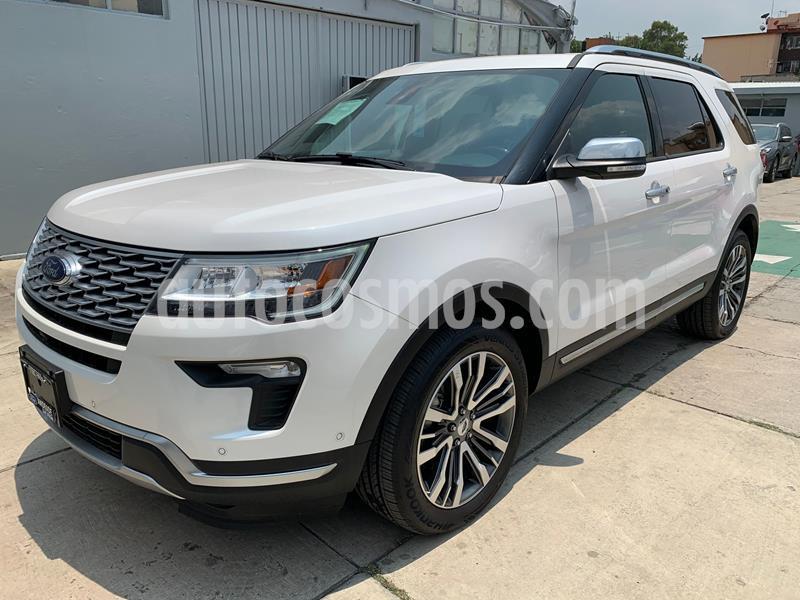 Ford Explorer Platinum 4x4 usado (2018) color Blanco precio $820,000
