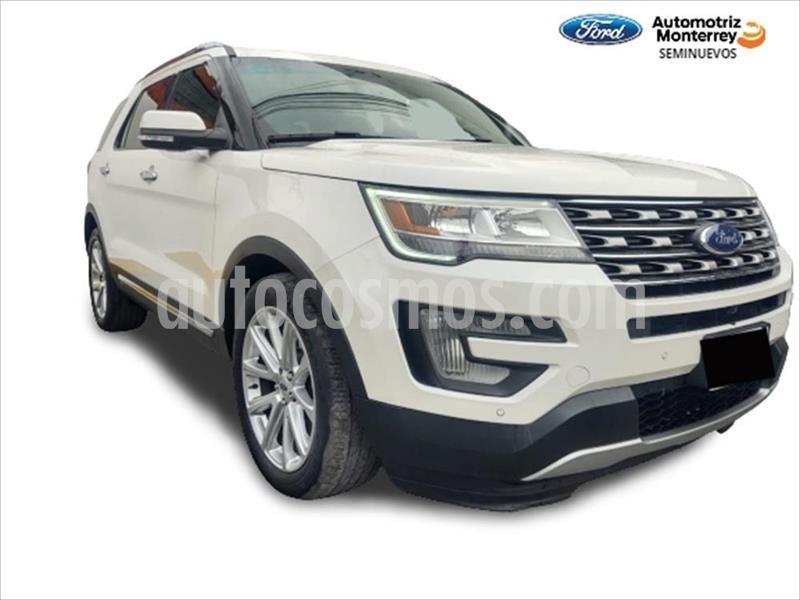 Ford Explorer Limited  usado (2017) color Blanco precio $499,900
