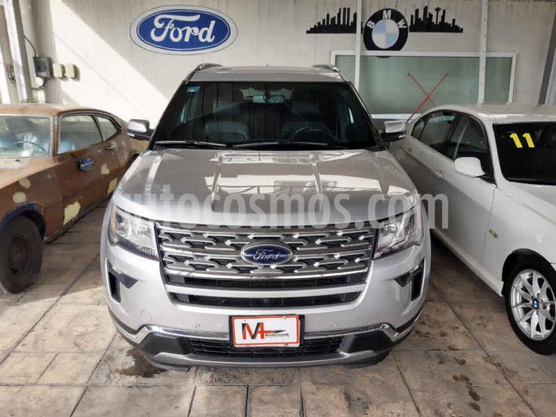 Ford Explorer Limited 4x2 3.6L  usado (2018) color Plata precio $540,000