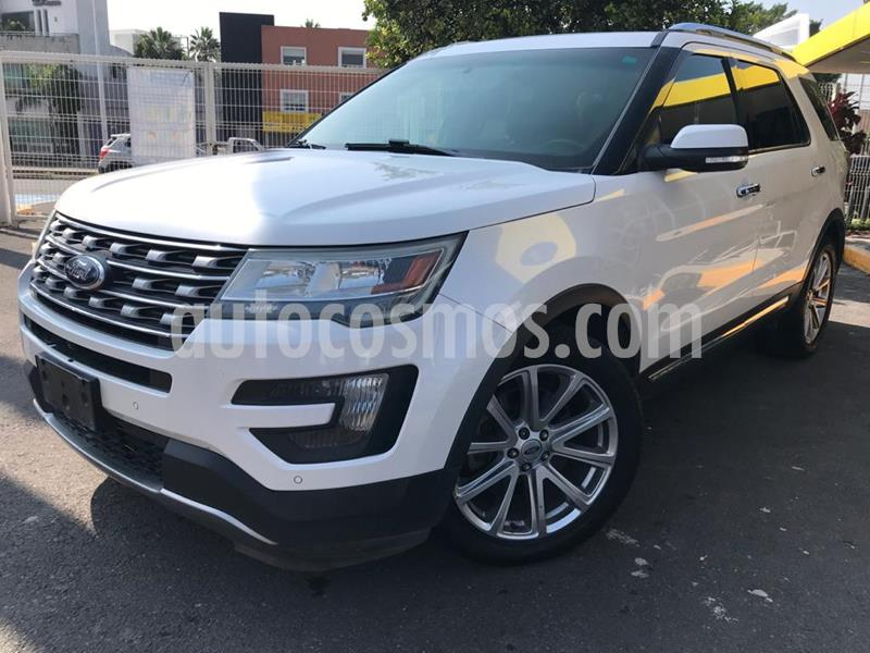 Ford Explorer Limited usado (2016) color Blanco Oxford precio $360,000