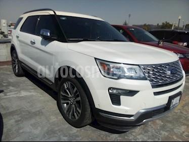 Ford Explorer PLATINUM 4WD 3.5L GTDI usado (2018) color Blanco precio $665,000