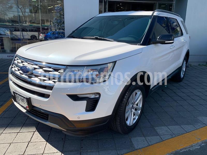 Ford Explorer XLT Piel usado (2018) color Blanco precio $519,500