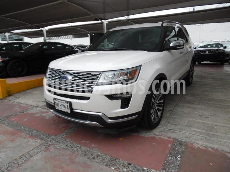 Ford Explorer PLATINUM 4WD 3.5L GTDI usado (2018) color Blanco precio $749,900