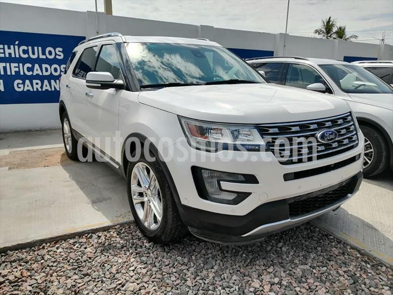 Ford Explorer LIMITED V6 4WD usado (2017) color Blanco precio $498,000