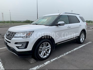 Ford Explorer Limited 4x4 3.6L  usado (2017) color Blanco Platinado precio $490,000