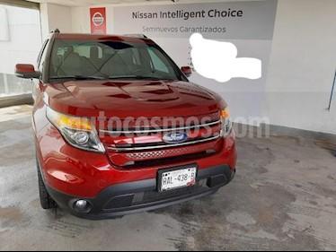 Ford Explorer 5P LIMITED V6 TA A/AC. AUT. PIEL CAMARA REVERSA D usado (2015) color Rojo precio $340,000