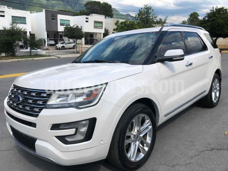 Ford Explorer Limited 4x4 3.6L  usado (2016) color Blanco precio $369,000