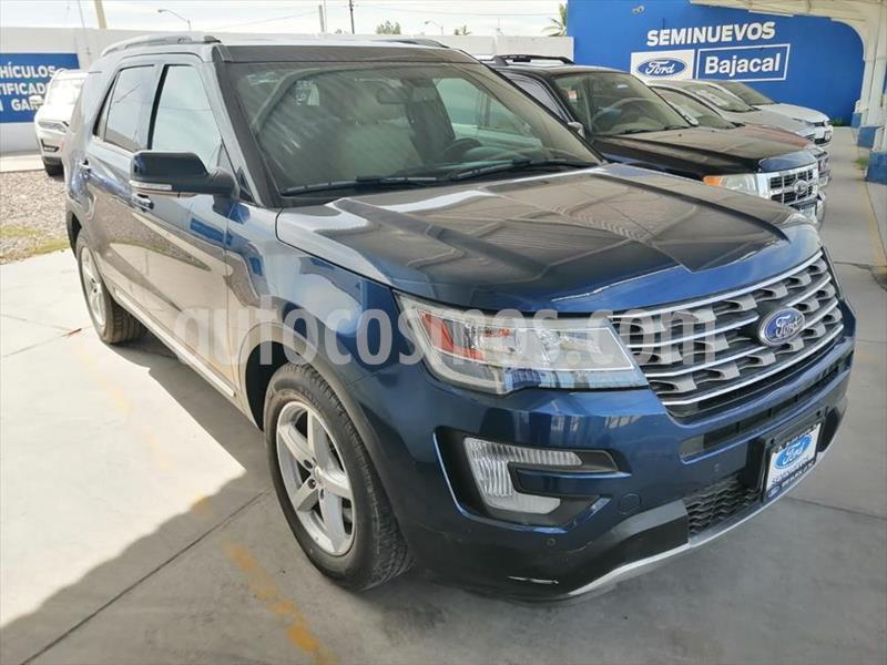 Ford Explorer XLT Piel usado (2017) color Azul Electrico precio $485,000