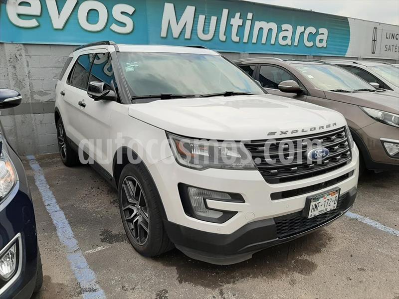 Ford Explorer Sport 4x4 usado (2017) color Blanco precio $550,000