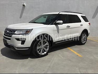 Ford Explorer LIMITED FWD 3.5L V6 usado (2018) color Blanco precio $580,000