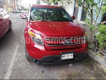 Ford Explorer XLT Base Piel usado (2014) color Rojo Granate precio $270,000