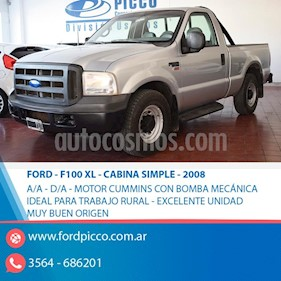 Ford F-100 3.9L TDi XL Plus 4x2 Cabina Simple usado (2008) color Gris Claro