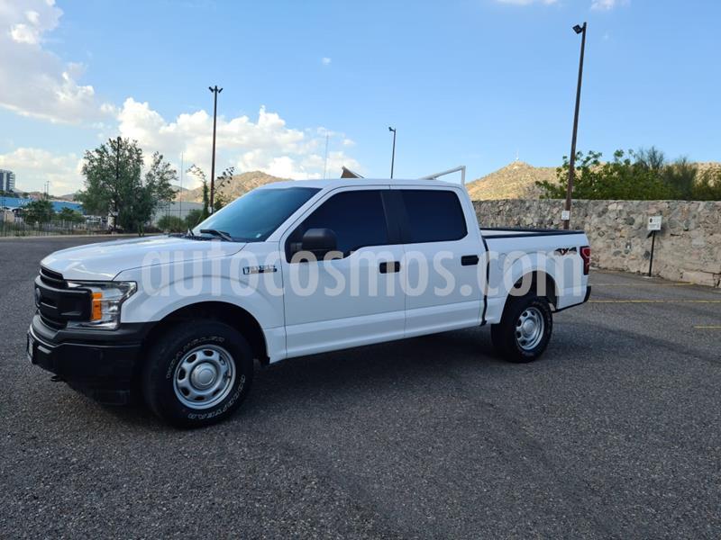 Ford F-150 XL 4x4 5.0L Crew Cabina usado (2018) color Blanco Oxford precio $450,000