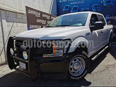 Ford F-150 XL 4x4 5.0L Crew Cabina usado (2019) color Blanco Oxford precio $540,000