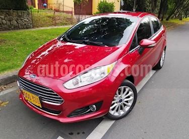 Ford Fiesta Sedan Titanium Aut usado (2017) color Rojo precio $39.900.000